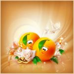 orange wedding by Vuelo