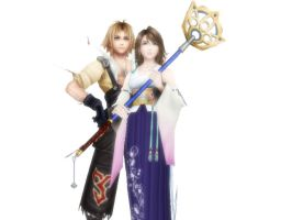 Tidus and Yuna by nasiamarie88