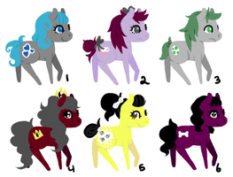 50 Pony Challenge 1-6 [OPEN] by candycaneunicorn