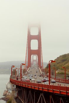 Traffic on the Golden Gate. by James-Bong