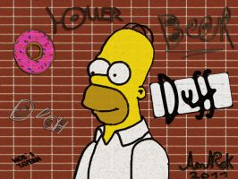 Homer Graffiti by KoppKnakka