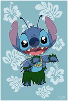 Postcard - Aloha Stitch by Niutellat