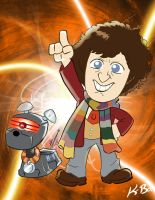 4th Doctor Who Tom Baker by kevinbolk