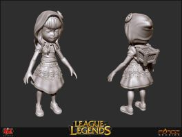 Red Riding Hood Annie Sculpt by HecM