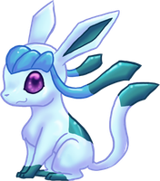 CUTE Glaceon by dragowlfly