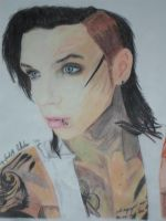 Andy Biersack color Nr 49 by xxdaswarwohlnix