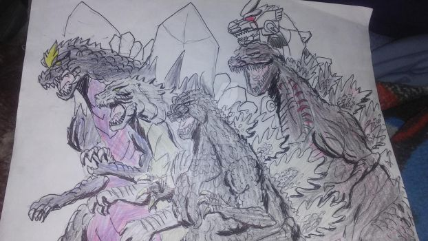 godzilla and the. Agents. Of destruction. Made by by timothyallman