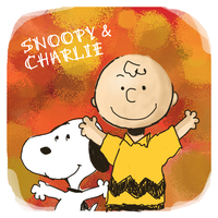 Charlie Brown and Snoopy by Cocodoo