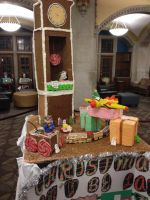 Gingerbread Clock and Train by Simpsonsfanatic33