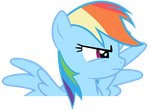 Rainbow Dash Vector - Dramatic Rainbow by Anxet