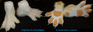 Sergal Feet by DreamVisionCreations