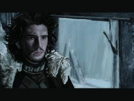 Jon Snow at The Wall - 2 by Anday