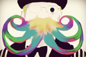 if mustaches were of sherbert by asecondself