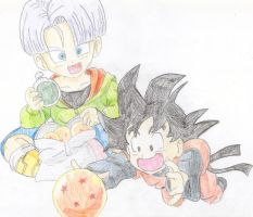 Goten and Trunks by RinskeR