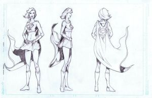 Supergirl Turnaround by AlonsoNunez