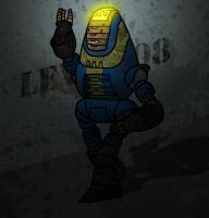 'Greetings, fellow Vault dweller.' by Fishbug