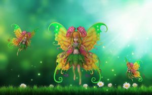 Flower Fairies by AlexFly