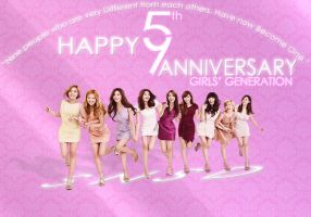 Happy 5th Anniversary GIRLS' GENERATION ! :) by ExoticGeneration21