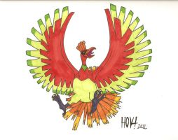 Pokemon-Ho-Oh by Davidbatmanfan