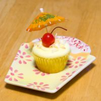 Pina Colada Cupcake by theshaggyturtle