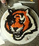 Bengals cake by viperxmns