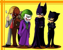 Batman and Villans by s-azma
