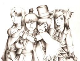 .Ace Attorney Heroines. by aihaibara18