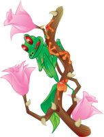 Frog Rosebush by rjonesdesign