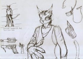 Sketch - Concept character - No.1 by Draconica5