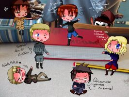 Chibi Hetalia at school by SariDell