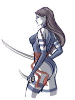 Psylocke Sketch by WhitneyCook