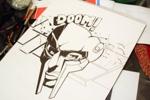 MF doom drawing WIP by xKendu