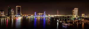 Downtown Jacksonville Pano by 904PhotoPhactory
