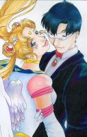 Usagi and Mamoru by eilid