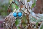 Stargate' charm earring with turquoise bead by lunnybunny1
