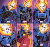 Marvel Bronze Age sketch cards - Ghost Rider by JoeOiii