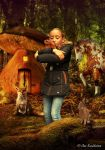 Chanella and the animals by Kwekkie1982
