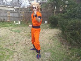 Super saiyan 3 goku cosplay 2 by sasuke12392