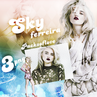 PNG PACK (87) Sky Ferreira by DenizBas