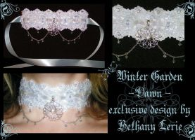 Winter Garden choker - Dawn by redLillith