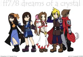 FF7+8 - dreams of a crystal by pyjamaTerra