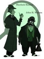 Holmes and Watson by Boredman