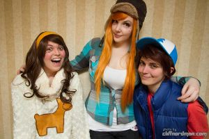 Mystery shack crew by PookieBearCosplay
