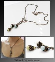Mavelle- wire wrapped necklace by mea00