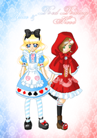 Alice and Red Riding Hood by Neko-Vi