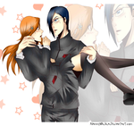 Commission 13 Uryuu x Orihime by NammyLank
