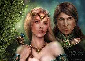 The elven couple by crayonmaniac