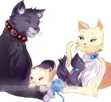 Adventure Time Kittens: April and Kevin by musicalscribble