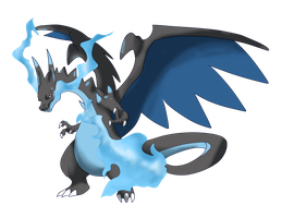 Mega charizard X by shinyscyther