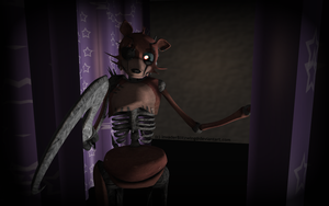 MMD FNAF - Drawkill - Hi there Foxy... by InvaderBlitzwing